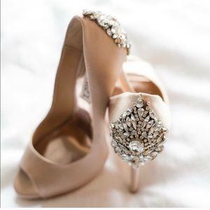 Badgely Mishka jeweled heels